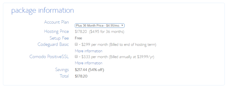 bluehost plus plan renewal discount