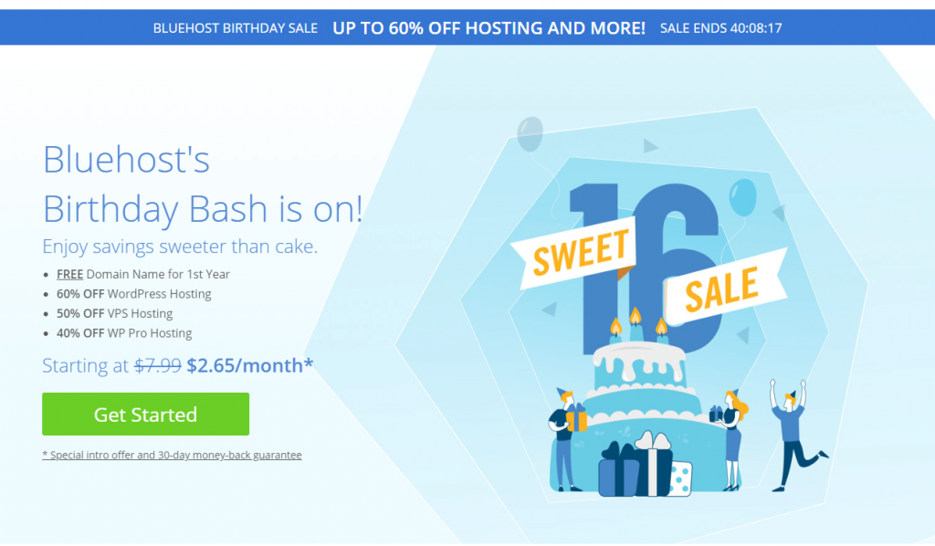bluehost birthday sale coupon